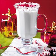 Cupid's Creamy Peppermint Punch | MyRecipes.com