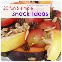 20 Fun & Simple Snack Ideas from Mummyology