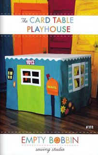 card table playhouse- You could make one to fit any table in your house!