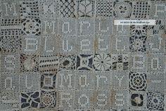 Crochet sampler - vintage