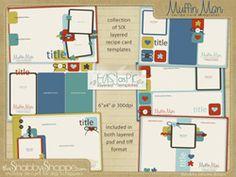 recip card, card templates, recipe cards