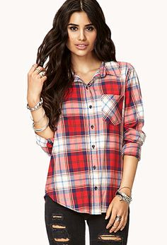 Plaid Pocket Shirt | FOREVER 21 - 2077619571