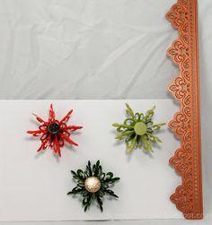 Rosettes using Spellbinder Fleur de Lis Accent Die