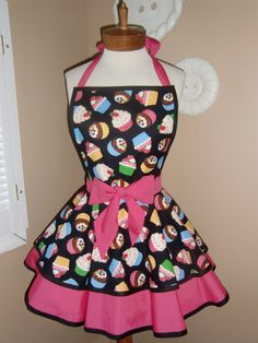 Mother and daughter matching aprons. One for me, Ella and Lily. Thank you very much.