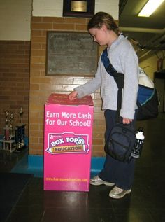 A school in Washington, DC collecting Box Tops from its students.