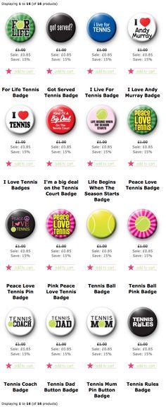 Tennis Button Badges pin badges Wimbledon Andy Murray 2014
