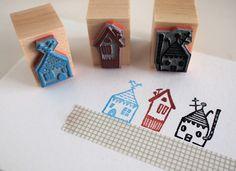 daheim   stamp set of 3 von SiebenMorgen auf Etsy