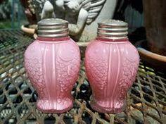 Salt and Pepper...vintage pink fish