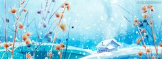 How Pretty The Snow Is Facebook Cover CoverLayout.com