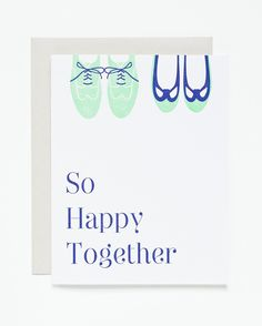 So Happy Together Letterpress Card | Sycamore Street Press