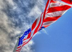 The flag flying over the USS Arizona @ Pearl Harbor