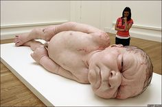 Ron Mueck - this artist creeps me out, although i admit very talented...