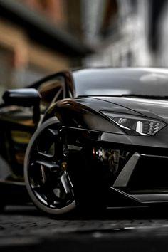 Black Lamborghini Aventador