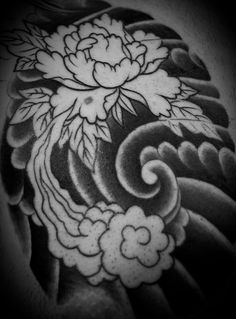 My next piece i plan on getting are peony flowers on my thigh/hip area ... Peacock Pattern Outline