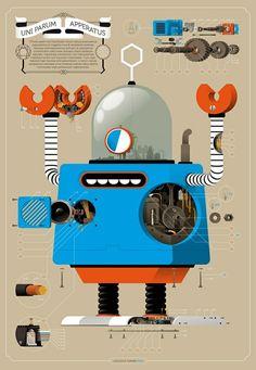 robot schematic illustration