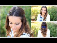 Boho Lace Tieback tutorial...so cute! #cutegirlshairstyles #hairstyles #lacebraid #braid #DIY