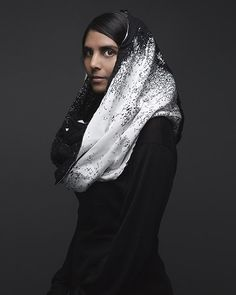 pixelate . knitted shawl (winter 2012 collection) by string theory (Canada)