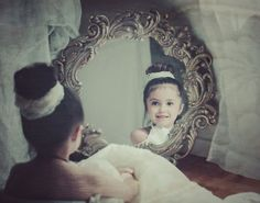 """Photo """"Young girl in the mirror"""" by crystal sandoval"""
