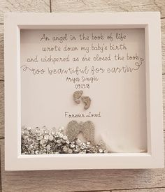 Miscarriage/stillborn keepsake frame/ too beautiful for earth | Etsy