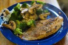 Pan-seared swai fish with onions and garlic