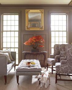 Martha Stewart's Bedford, NY living room