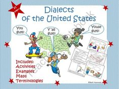 Dialects of the U.S. from Educator Helper on TeachersNotebook.com -  (21 pages)  - Four-wheelin' or muddin? Cruisin' or going for a drive? Get students thinking  about dialects and regional differences with this 22 page engaging, visual  presentation.
