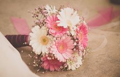 gerber daisies are one of my favorite flowers.. beautiful bouquet for a spring/summer wedding