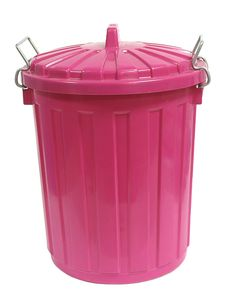 Kitchen by caleighrodgers1 on pinterest pink the cure and pink kitchens - Pink kitchen trash can ...