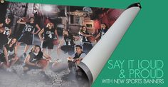 New Sports Banners from Miller's Sports & Events come in a variety of sizes to help clients create energy at rallies, games, tournaments, fundraisers and other team events.
