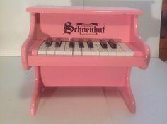 Kids Schoenhut Toy Piano Pink 18 Key My First Piano Childs Music Instrument #Schoenhut