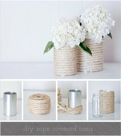 Perfect for a summertime wedding, these DIY vases are super cute and easy to make. #weddingdecor #flowers #diy