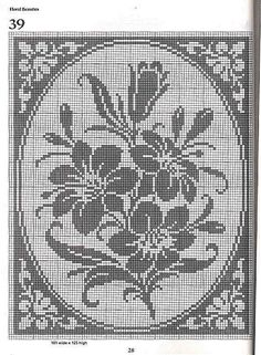Flowers Filet Crochet