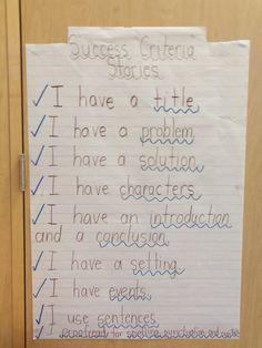 Grade 1 Success Criteria For Writing Stories