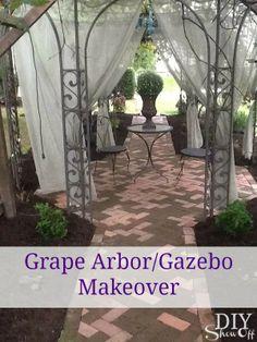 Grape Arbor Gazebo Makeover