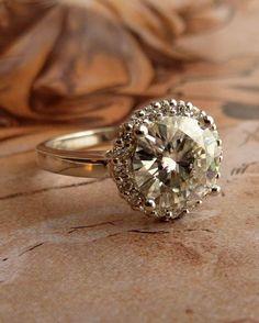 Moissanite style Ring
