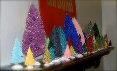 Fun DIY bottlebrush trees! So colorful.