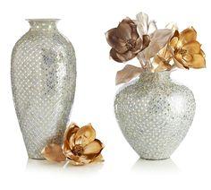 Pier 1 White & Silver Mosaic Vases go beyond brilliance