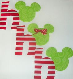 Fabric Applique TEMPLATE Pattern Only Mickey Minnie Mouse Ho Ho Ho For CHRISTMAS.....New