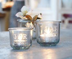 candle jars.