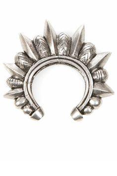 / Silver spike cuff / Pamela Love