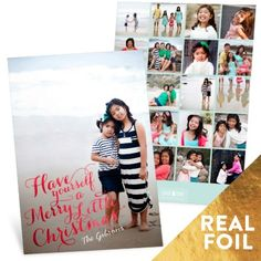 Have yourself a merry little time creating these holiday photo cards. #foil #photochristmascards #holidayphotocards