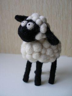 Needle felting - sheep