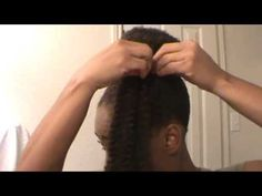 How to do a bun and bangs with marley braid hair - YouTube