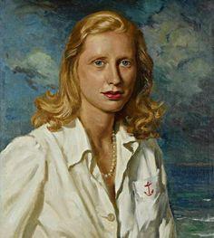 Princess Mdivani, 1945 oil.