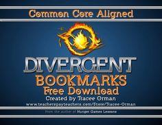 Divergent Chapter Bookmarks Reading Log {Free}