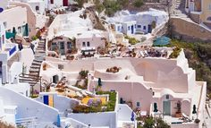 Greece. Santorini Island  Oia is considered the oldest settlement on the island.