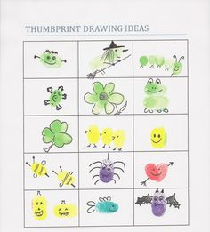 Thumb print ideas