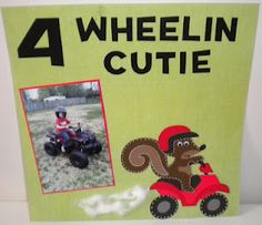 Jean's Crafty Corner: 4 Wheelin Cutie Layout
