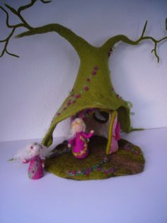 felt fairy house could work for root children as well