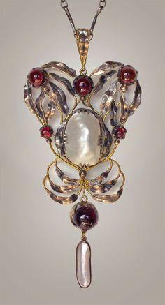 Silver Gold Garnet Pearl